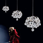 180W Contemporary Crystal Pendant Light med 9 Lights i spiralsnoet Metal Design