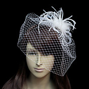 Beautiful Flannelette With Net/Tulle Women's Wedding Fascinators
