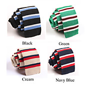 Men's Fashion Colormix Stripes Knitting Tie