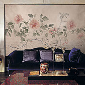 Pink Peony botnica floral Mural