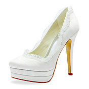 Beautiful Satin Stiletto Heel Pumps With Ruffles Wedding Shoes (More Colors)