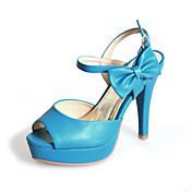 Leatherette Stiletto Heel Sandals With Bowknot Office / Party / Evening Shoes With Bowknot (More Colors)