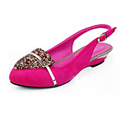 Suede Low Heel Closed Toe With Rhinestone Party / Evening Shoes (More Colors)