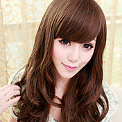 Blunt-cut Brown 80cm Princess Lolita Wave Wig
