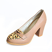 Leatherette Chunky Heel Closed Toe With Animal Print Party / Evening Shoes (More Colors)