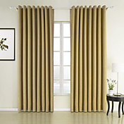 (Two Panels) Natural Texture Sound Absorption Energy Saving Curtains
