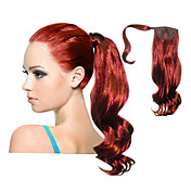 Top Grade Quality Synthetic Red Curly Long Ponytails