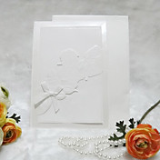 Nice White Rose Design Wedding Invitation (Set of 50)