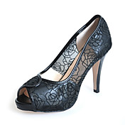 Lace / Patent Leather Stiletto Heel Peep Toe Party / Evening Shoes (More Colors)