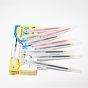 Transparent Gel Pen affaires en plastique (12 PCS couleurs assorties)