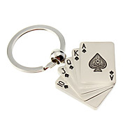 Metal Straight Flush Pendant Keychain