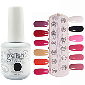 Lentejuelas 1PCS UV Gel Color Nail Polish No.73-84 Soak-off (colores surtidos, 15 ml)