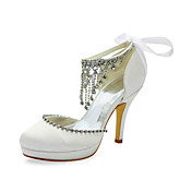 Gorgeous Satin Stiletto Heel Pumps With Rhinestone Wedding Shoes (More Colors)