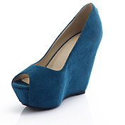 Suede Wedge Heel Peep Toe Party / Evening Shoes (More Colors)