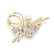 Gorgeous Alloy With Rhinestones / Imitation Pearl Brooch (More Colors)