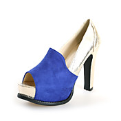 Chic Suede Chunky Heel Peep Toe With Split Joint Party / Evening Shoes (More Colors)