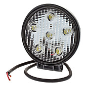 18W 1380LM 6000-6500K Natural de luz blanca impermeable Round LED Flood Lamp (10-30V)
