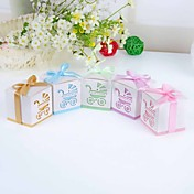 &quot;Baby's Day Out&quot; Laser Cut Carriage Favor Box – Set of 12 (More Colors)