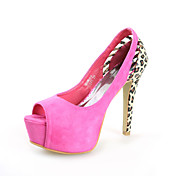 Chic Suede Stiletto Heel Peep Toe With Animal Print Party / Evening Shoes (More Colors)