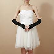 Delikat Satin Fingerless Elbow Lengde Party / Evening Hansker