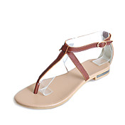 Fabulous Leather Low Heel Sandals With Buckle Party / Evening Shoes (More Colors)