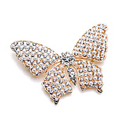 Unique Alloy With Rhinestones / Imitation Pearl Brooch (More Colors)