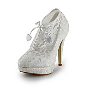 Elegant Lace Stiletto Heel Closed Toe With Lace-ups Shoes (More Colors)