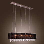 Lmpara Chandelier de Tela con 4 Bombillas - APOLDA