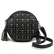 Punk Skull Rivet Circle Crossbody&amp;Messenger Bag