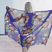 Blue Summer Sunflower Sarong (Lngde: 150cm Bredde: 105CM)