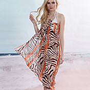 Orange Zebra Leopard Sarong (Lngde: 150cm Bredde: 105CM)