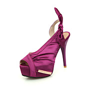 Stylish Satin Stiletto Heel Sandals With Bowknot Party / Evening Shoes(More Colors)