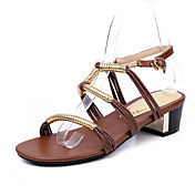Fabulous Leather Low Heel Sandals With Buckle Party/Evening Shoes (More Colors)