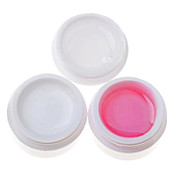 Gel UV multifunción 3pcs (14 ml, 1 White Gel 1 Pink Gel Gel transparente 1)