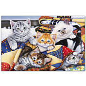 Printed Art Animal Cozy Kittens by Jenny Newland