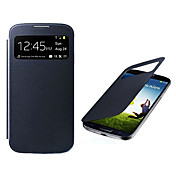 Pantalla visible PU Leather Case cuerpo completo para Samsung i9500 Galaxy S4