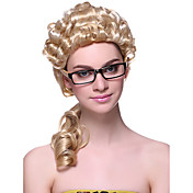 Capless High Quality Synthetic Long Curly Lawyer Hair Wigs