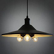 180W Modern Pendant Light with Metal Shade and 3 Bulbs in Europe Style