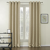 (Two Panels) Embossed Floral Classic Blackout Curtains