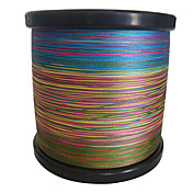 1000m 4 Carriers PE Braided Fishing Line (Rainbow)