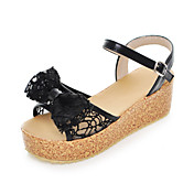 Sexy Lace And PU Wedge Heel Sandals With Bowknot Party / Evening Shoes(More Colors)