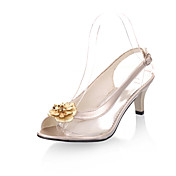 PU Sequin Low Heel Peep Toe Sandals  With Flowers Party / Evening Shoes(More Colors)