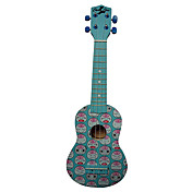 (Mood) Laminated Basswood Soprano Ukulele with Bag/String/Picks(Blue)
