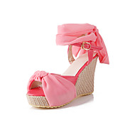 Fashion Leatherette Wedge Heel Sandals With Buckle Party/Evening Shoes (More Colors)