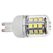 G9 3.5W 30x5050SMD 300-330LM 5500-6000K Natural White Light with Cover LED Corn Bulb (110V/220V)