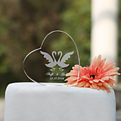Personalized Heart Crystal Wedding Cake Topper (More Designs)