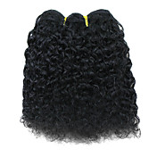 "8"" 100% Indian Remy Hair Black Popular Wave Wefted Hair Extensions"