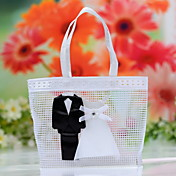Chic Bride & Groom Wedding Favor Bag (Set of 12)
