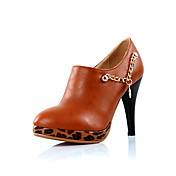 Stylish Leatherette Stiletto Heel Ankle Boots With Chain Casual Shoes(More Colors)