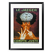 Ingelijste kunstdruk Vintage Le Jaeger door Vintage Apple Collection